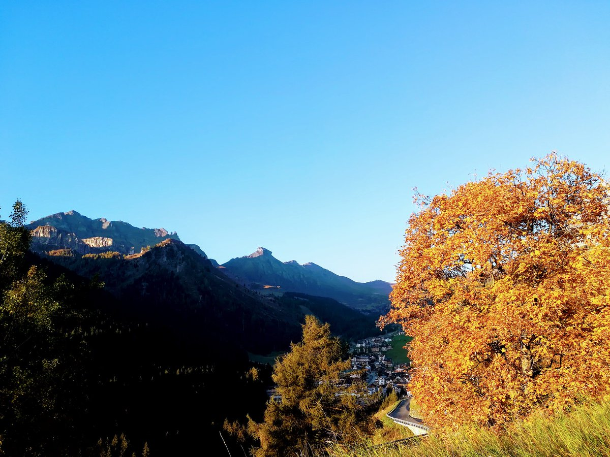 Autumn in the Dolomites: the views #dolomitesbiked...