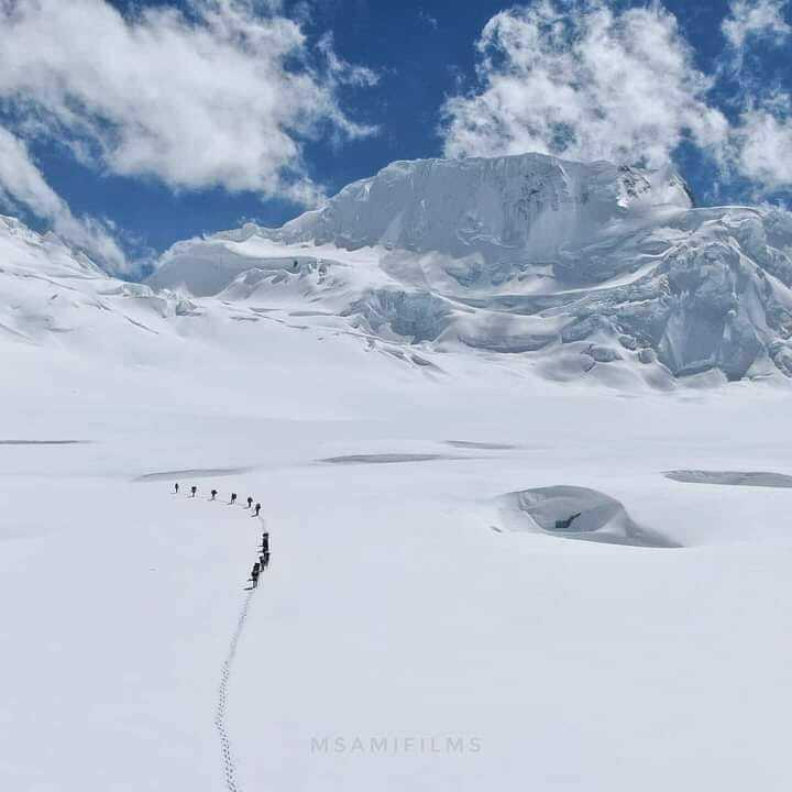 One of another beautiful la pass in Karakuram range near Biafo Hispar Pakistan. #karakorum #trekking #lapass #baltistan #biafo #hispar   Photo credit: @Khadim Hushey https://t.co/X5noYl9g4C https://t.co/hVQRZzPSBk