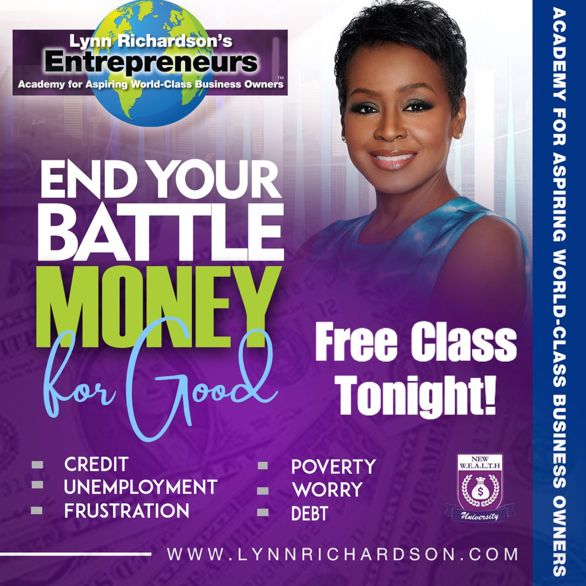 End Your Battle with Money for Good - free class tonight! Sept 3 7pm est - REGISTER https://t.co/bOXkyHlsV2 submit your inquiry then wait for an immediate reply https://t.co/vRGmYndsqJ