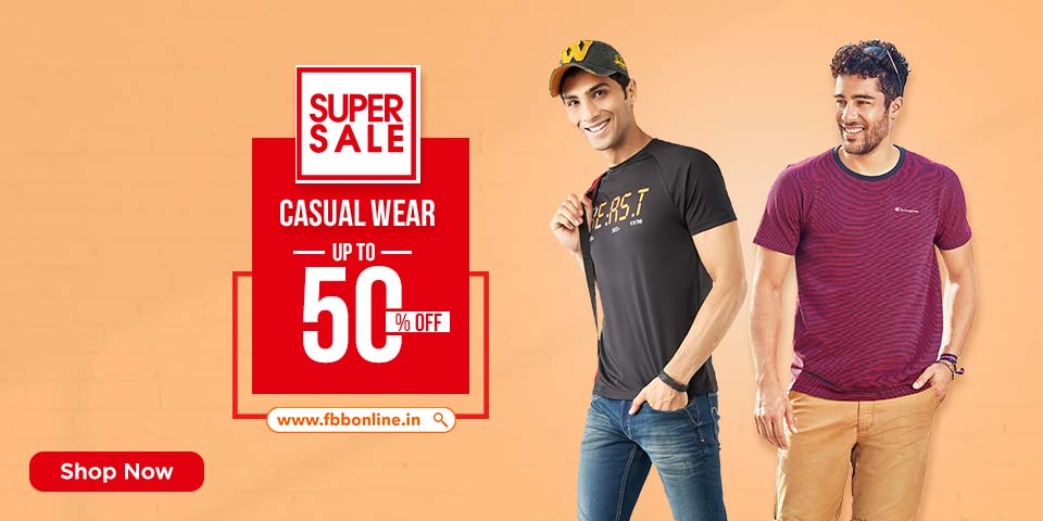 Exciting offers on men's casual wear available only on https://t.co/QGuGR7ZRna with #SuperSale! Shop now: https://t.co/1v1kw6FDvs https://t.co/m08vhTjFsn