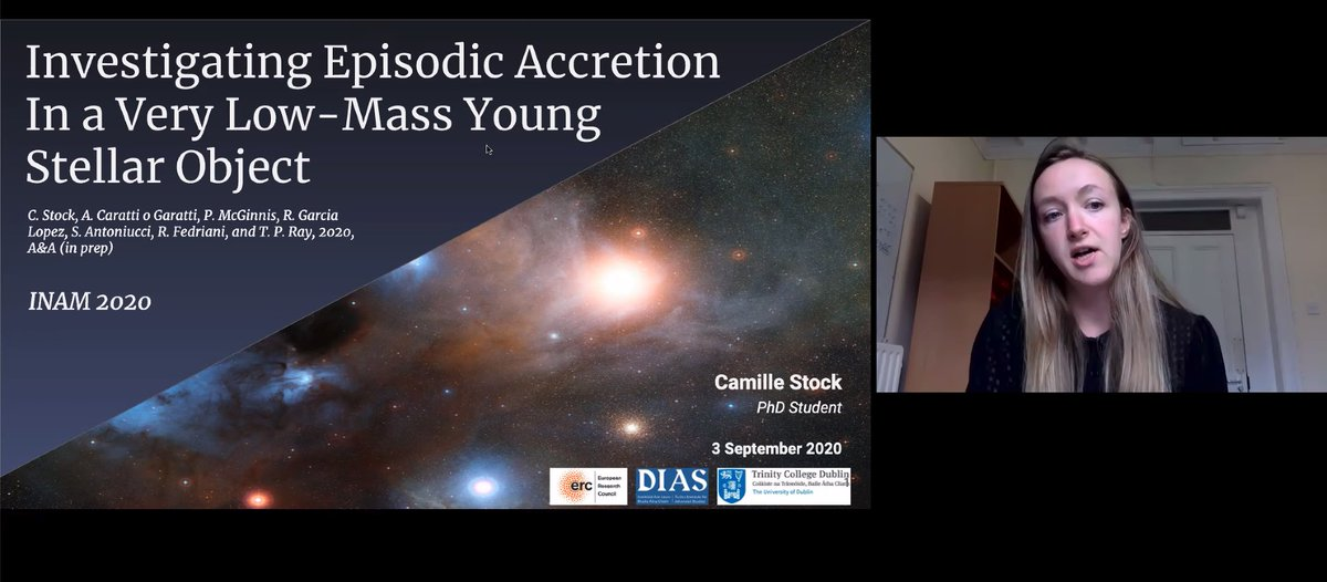 test Twitter Media - Great to see three @DIASAstronomy members giving talks in the #INAM2020 Star Formation and Stellar Evolution session this afternoon. Lots more in tomorrow's sessions too- we are looking forward to it! https://t.co/ESDbbJf0RQ