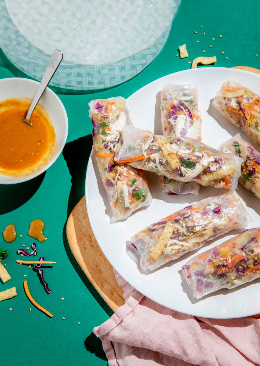 Fall might be around the corner, but summer rolls are forever ☀️ This new twist on the classic Vietnamese appetizer transforms @chrissyteigen's crunchy-tangy Chinese chicken salad into a picnic-ready dish you'll want to snack on all day long. Recipe 👉