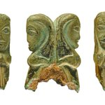 Image for the Tweet beginning: These opposing Celtic heads may