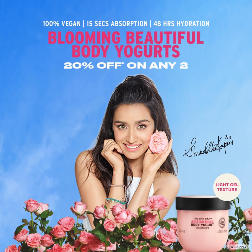 Ad📢 This 100% vegan delight leaves your skin feeling soft and nourished. Get 20%* off when you buy any 2 body yogurts! Shop online👉   #kingsmarketing4u #TheBodyShopIndia #TBSInd #BodyYogurt #shraddhakapoor