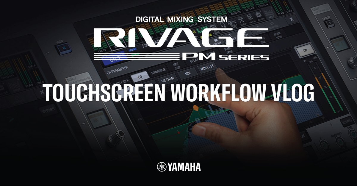 Yamaha UK R&D Manager Andy Cooper demonstrates the new enhanced Touchscreen Workflow in the Rivage Series digital mixers. #yamaha #audioengineer #proaudio #rivagePMseries  Check it out at the link  below: https://t.co/EMkZUsFXUQ https://t.co/bVYDmiyOKW