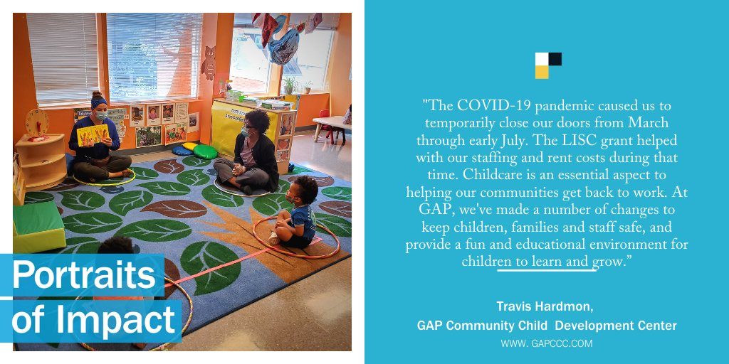With a #RapidRecovery Grant from LISC and @Verizon, GAP Community Child Development Center is open & offering multicultural educational & development programming for DC Children. #PortraitsofImpact #SmallBizRecovery #PayItForwardLive  More opportunities: