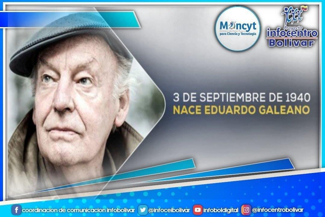 #03Sept Eduardo Galeano fue un periodista y escritor uruguayo, considerado uno de los escritores más influyentes de la izquierda latinoamericana.Sus libros más conocidos, Las venas abiertas de América Latina y Memoria del fuego.#QuedateEnCasa #MaximaProtección @Mincyt_VE https://t.co/9IRscO5Tgj