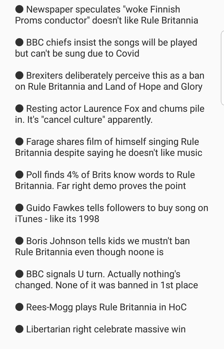 I've updated my minute by minute account of how the Woke left tried to ban Last Night of the Proms