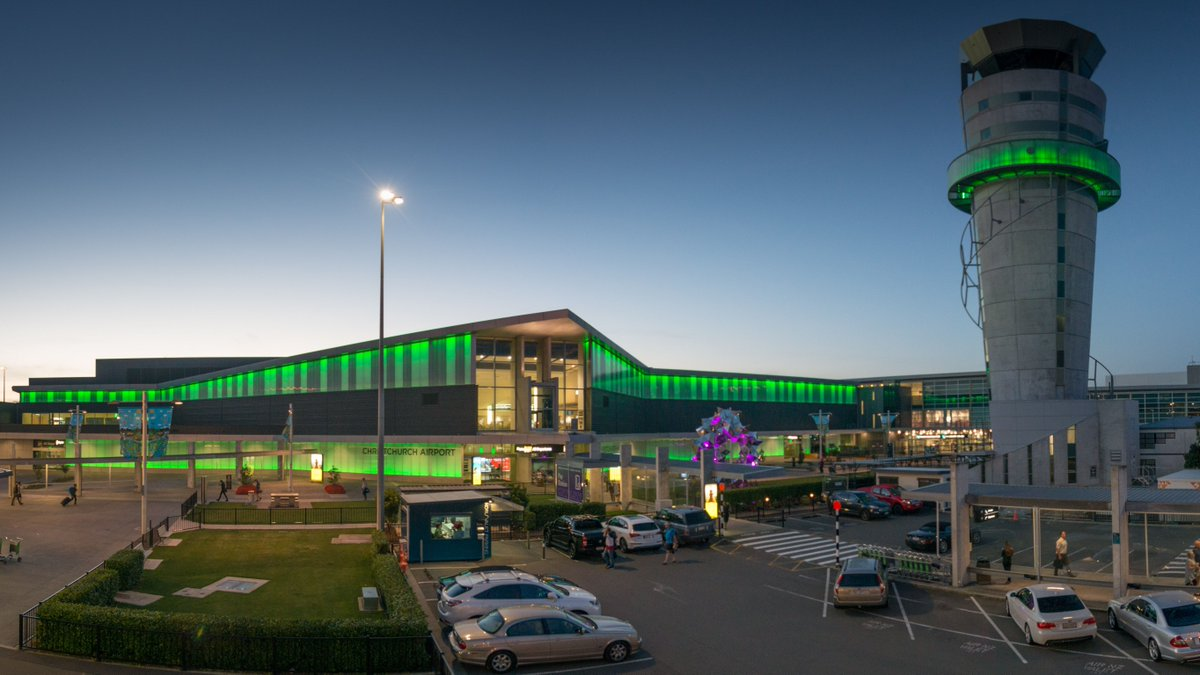 Today marks 10 years since the September 2010 earthquake that rocked Canterbury. We're lighting up our airport terminal and the @AirwaysNZ tower in green to align with remembrance events around the city. Kia kaha Canterbury. ❤️🖤 https://t.co/pndZ2cViZU