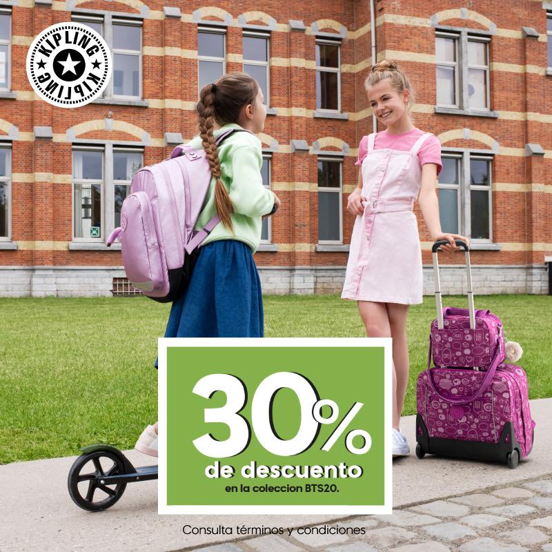 🎒Aprovecha -30% de descuento en todos nuestros productos de la colección Back To School 🖍️ @KiplingMexico    https://t.co/j06DFG76Ps https://t.co/UR3uBrjguD