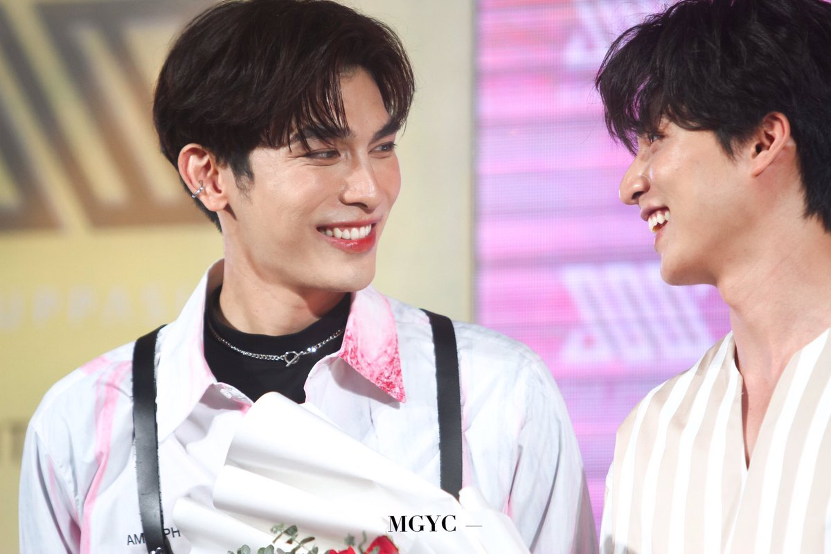 The way MewGulf's eyes glisten for each other is a complete significance of how strong their attraction or even love for each other is. I do believe that they have a love that is so strong and deep which is very rare to find these days.