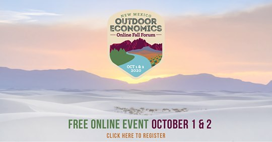 The Outdoor Economics Online Fall Forum will celebrate New Mexico's outdoor economy and explore ways to grow outdoor recreation. Register now! https://t.co/h0eO4jSRg3 #NMEcon #NMMainStreet #NMOutdoors https://t.co/1vIZDgBcUz