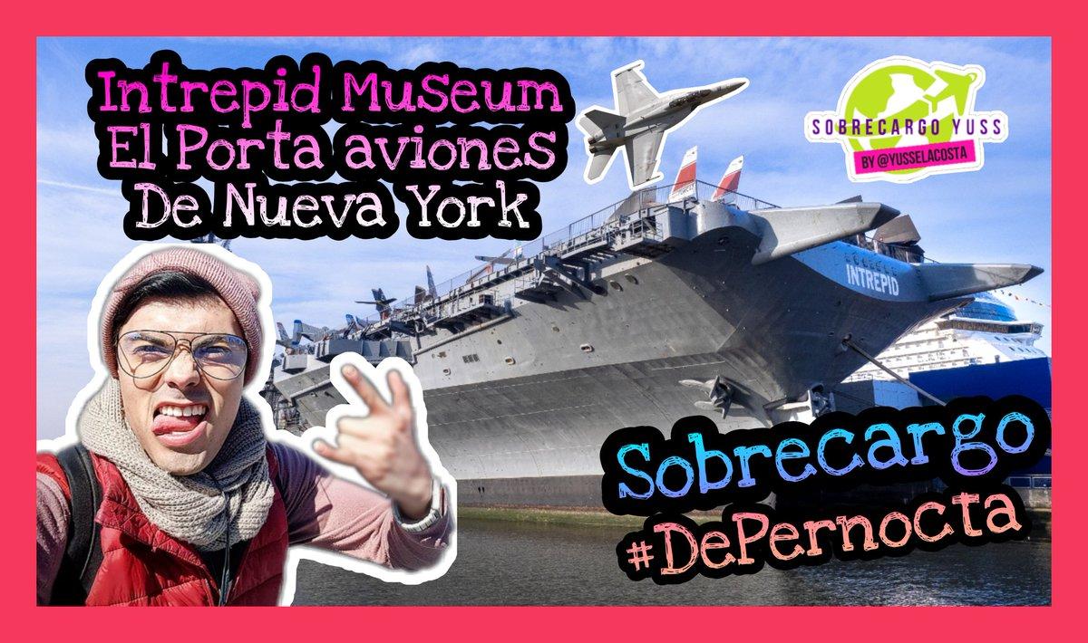 Los invito a conocer el Intrepid museum de NY un porta aviones!!! Está parte 1 de todo el viaje vámonos DePernocta!!!  Te espero también con el ChismeDeGalley cada semana!   #SeguroVuelas #EstamosJuntosEnEsto    #sobrecargo #sobrecargos #piloto #pilotos  https://t.co/x28bQJ1bZO https://t.co/FiZxDGnU9j