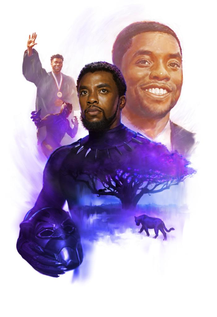 Legend. Warrior. King. Thank you to Marvel Studios Head of Visual Development Ryan Meinerding for this beautiful piece of art honoring Chadwick Boseman.  https://t.co/LpGEERYEWP https://t.co/QOARaMHSUF