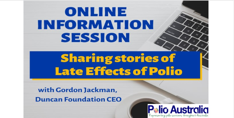 📢 Don't forget to register for our upcoming online information session this Monday! 💻   Sharing Stories of Managing Polio with Gordon Jackman, CEO, Duncan Foundation (NZ)  Booking link: https://t.co/DPDjzQ3enj