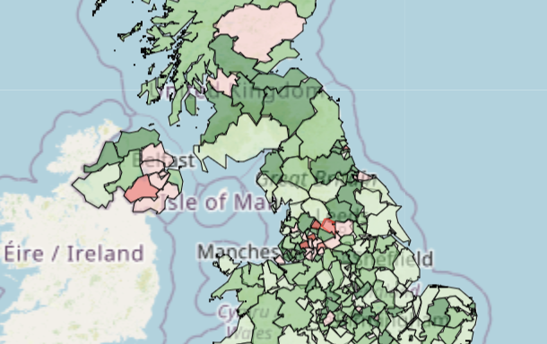 Update the ALL-UK Covid hotspot tracker - very mixed picture; some clear hotspots; little sign of excess deaths yet from rising cases. (Total cases from last seven days under-reports, as more results will be added)  https://t.co/WIqAkwalcn https://t.co/tlwVB57ZO1