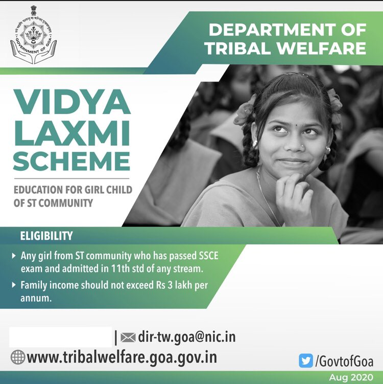 A step towards #Swayampurna #Goa Avail benefits from various schemes of @GovtofGoa and #BeaHero #BetiBachaoBetiPadhao #GirlChild #STGirlChild #EducationForAll https://t.co/8fkGEmXdPx