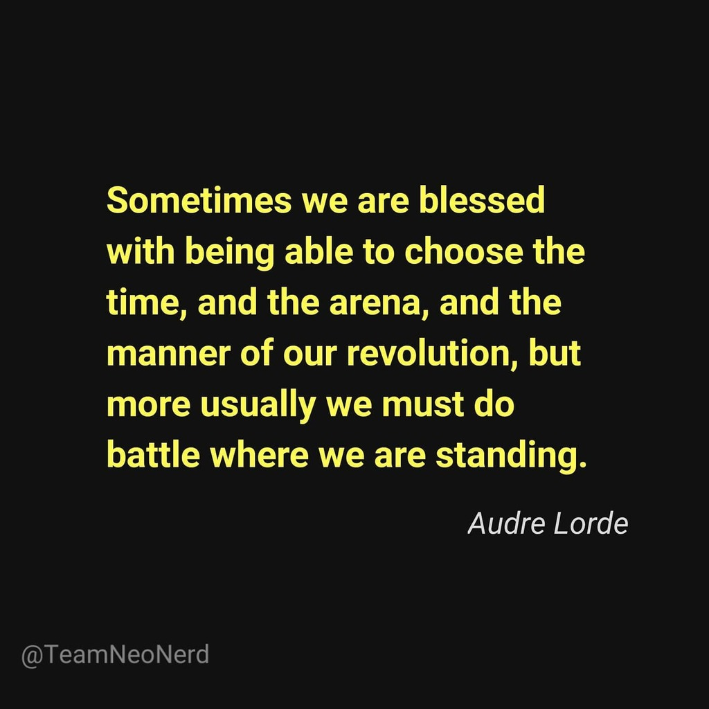 Rise up. . . . . . #audrelorde #quotes #quotestagram #quotesdaily #dailylife #blessed #choose #time #arena #revolution #battle #fridaymotivation #fridayfeeling #fridayquotes #journey #opportunities #change #beready #life #unpredictable #challenges #whatafight #teamneonerd #u… https://t.co/27TU5MF0t9