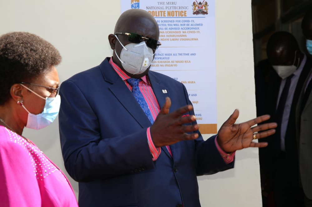 Education CS Prof. George Magoha tours Meru and Nyeri county to inspect National Polytechnics in readiness to reopening the Institutions amid Covid-19 Pandemic.The CS is pleased with many institutions across the country for their efforts prepare for reopening of the institutions.
