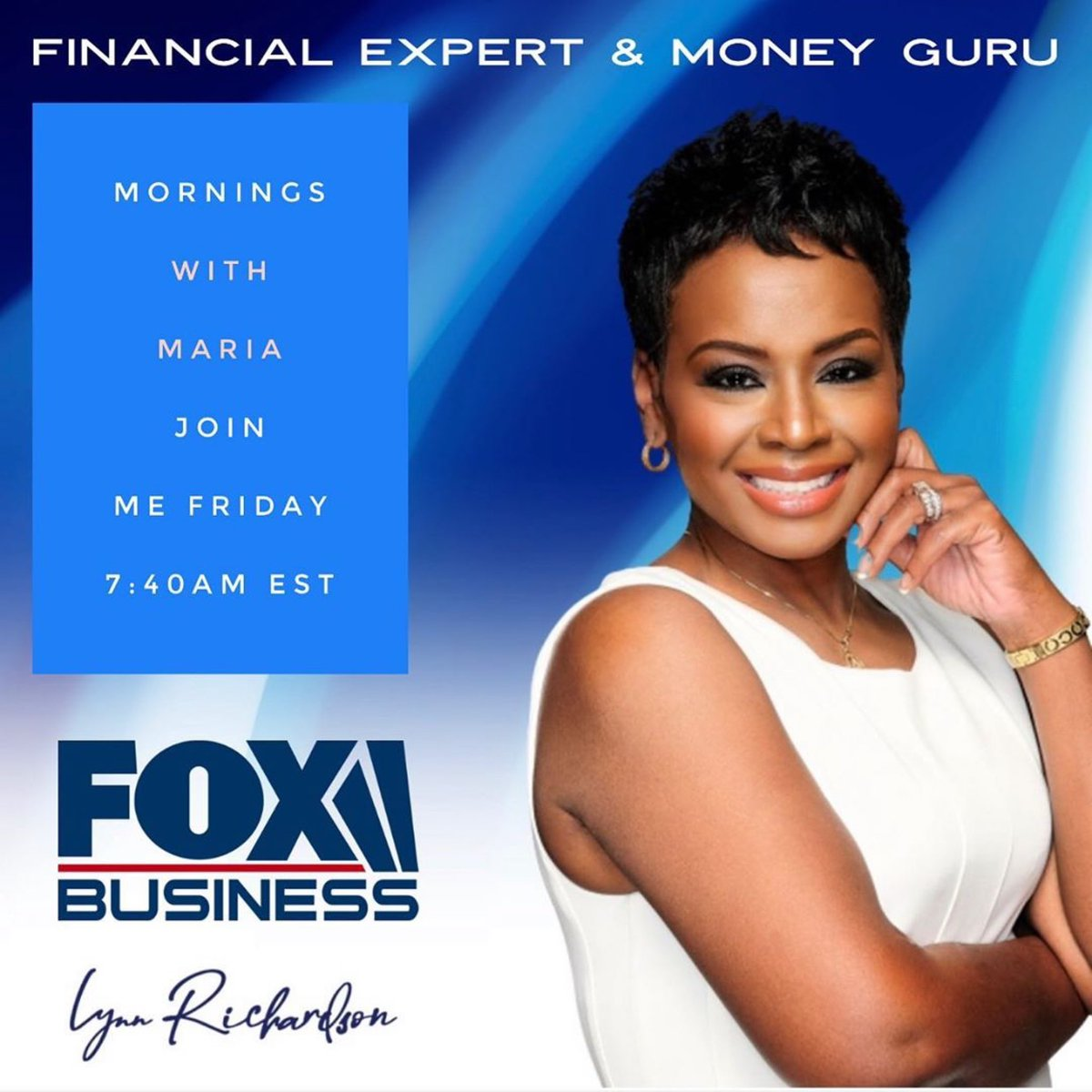 Watch @lynnrichardson FRIDAY morning 7am Est @FoxBusiness #Mariainthemornings   For tips on how to get your money straight! https://t.co/4RyOnCwAKF