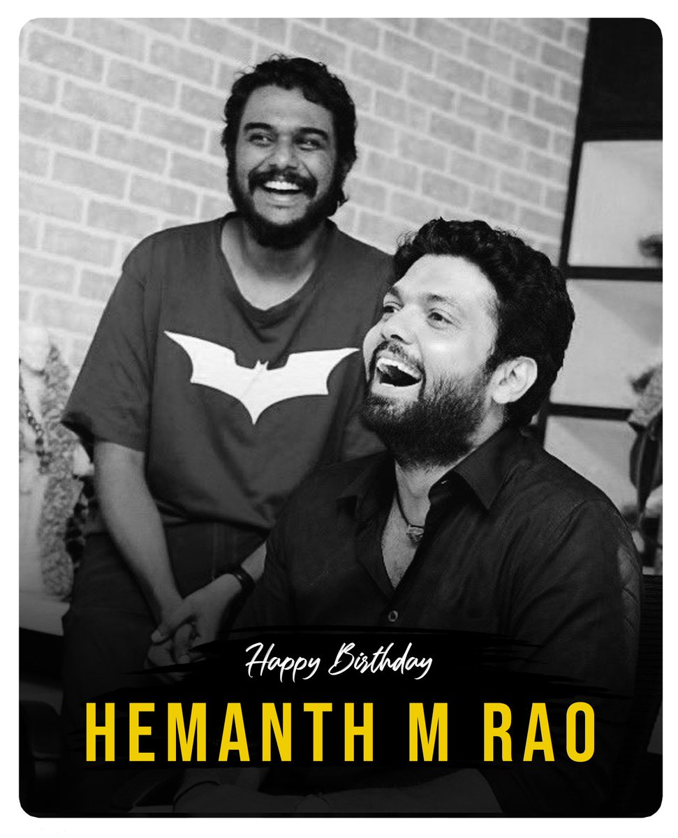 Happy Birthday to the incredibly talented @hemanthrao11. May you continue to win hearts with your brilliance ☺ ಹುಟ್ಟು ಹಬ್ಬದ ಹಾರ್ದಿಕ ಶುಭಾಶಯಗಳು ಹೇಮಂತ್ 🤗 https://t.co/S9SIFOGhAm