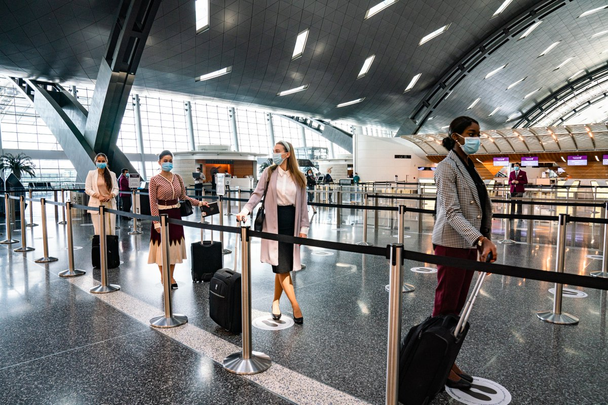 Your health and safety is our utmost priority, whether it's on board our aircraft or at our hub @HIAqatar. #QatarAirways https://t.co/Blk9eWm1jU