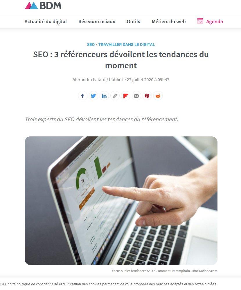 SEO : 3 référenceurs dévoilent les tendances du moment https://t.co/Nu6BpBTIOA @BlogModerateur #SEO#referencement https://t.co/xWLrqDjXfK