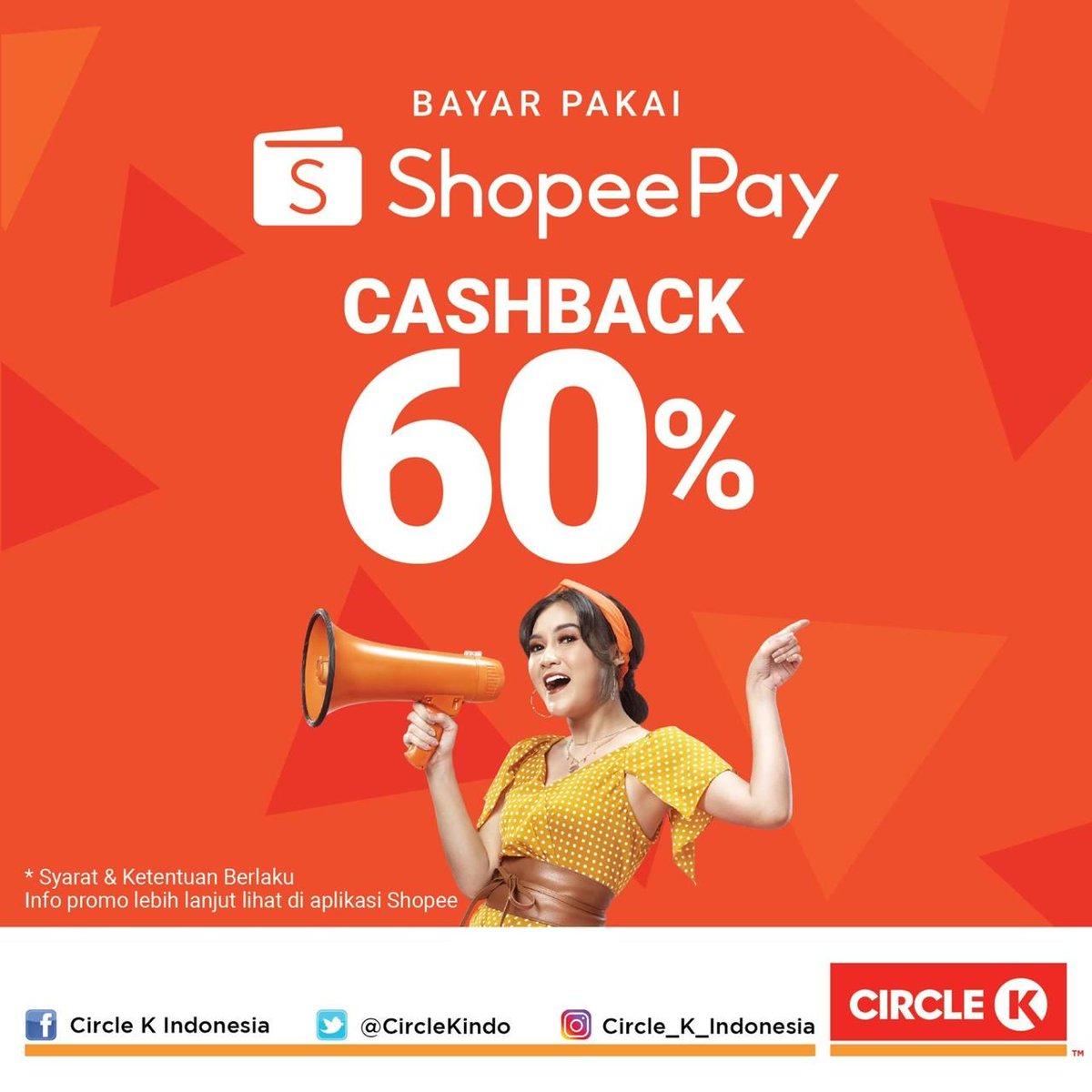 Hayooo jangan murung! Masih ada cashback 60% dari @shopeepay_id.. Liat details S&K-nya di aplikasi Shopee-mu, yuk.. Jangan ditunda-tunda! https://t.co/msvYlLYIRS