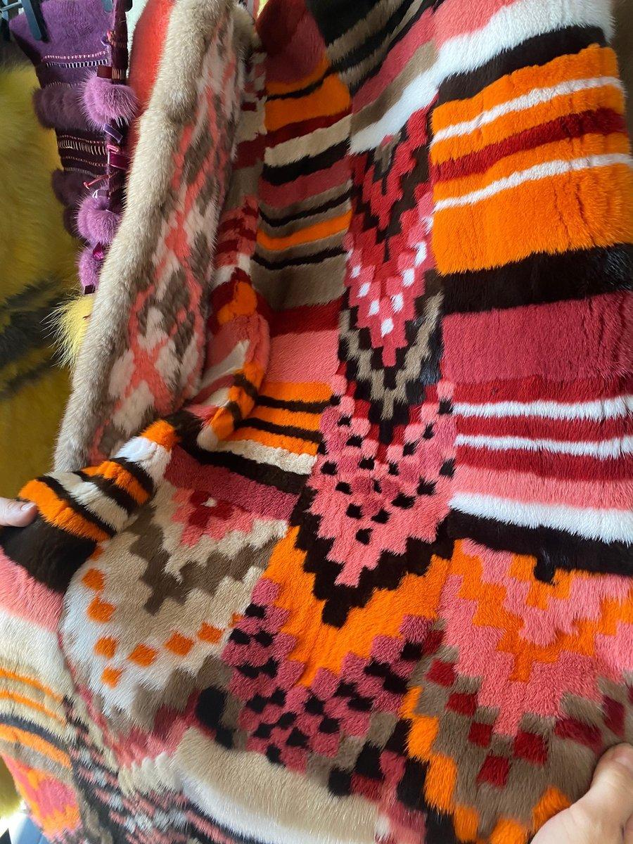 Color Alert @sagafurs  FUR VISION  #infurmagazine #infurmag #fashion #furs #fur #furfashion #ootd #wow #inspo #vision #styleinspo #wiwt #trends #furdesign #mink #fox #color #intarsia #design #designtechnique #strip #graphic #development #craftsmanship #natural #sustainability https://t.co/XPcHWJiPrO