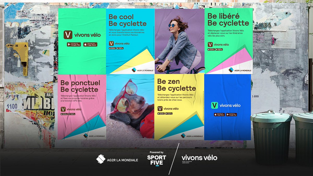 "🇫🇷 With the help of SPORTFIVE, AG2R LA MONDIALE has launched ""Be cyclette"".  The ad campaign will promote ""Vivons Vélo"", which is the leading health cycling community in France with almost 270,000 members.  ▶️ https://t.co/ITZ71Icdv8 https://t.co/6IgN1pIwDk"