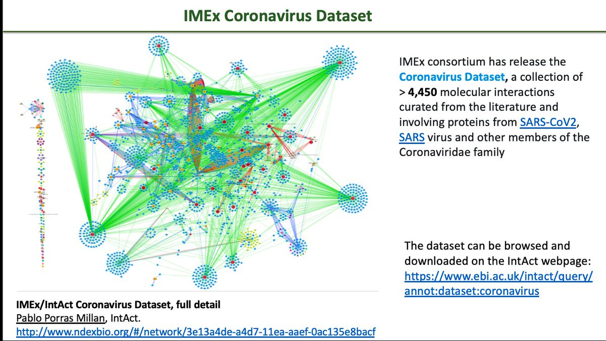 Today, we presented the IMEx Coronavirus dataset at BionetvisA at #ECCB2020 @imexconsortium @intact_project @elixir_it @BiologiaUniRM2 @humantechnopole @unitorvergata   #ELIXIRvsCOVID19 #SARSCoV2 #COVID19 https://t.co/piHwOroHcO