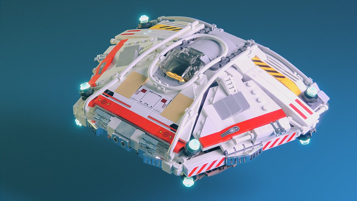I'm a huge fan of Elite, and I made this #Lego Sidewinder.  It should be possible to build from actual pieces (except the colors).  Rendered in #Blender3d with @Mecabricks. You can view the model in 3d and pick it apart at https://t.co/LyjIcR5Euu #elitedangerous https://t.co/w9mMVGGKPT
