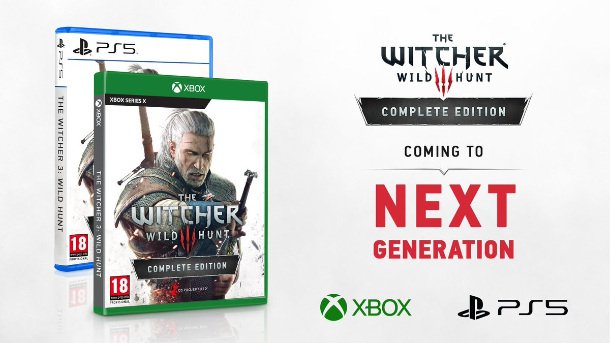 The Witcher 3 is coming to the next generation!  A visually and technically enhanced version of the game will be available for purchase for PC and next-gen consoles & as a free update for owners of the game on PC, @Xbox One and @PlayStation 4.   More: https://t.co/JclubxpJim https://t.co/gWCJzST3vr
