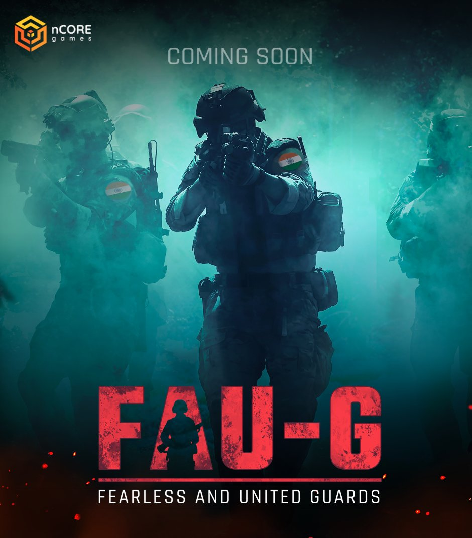 In response to PM @narendramodi call of #AtmaNirbharApp, @nCore_games is proud to announce our action game Fearless And United: Guards FAU:G with mentorship from @akshaykumar 20% of net revenues donated to @BharatKeVeer trust for India's Bravehearts  #JaiHind #FAUG #gaming