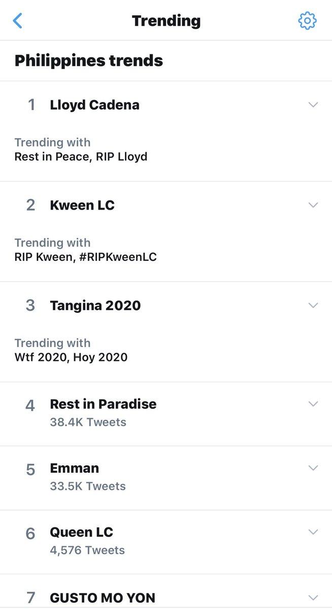 Lloyd Cadena, @LloydCadena marami kaming nagmamahal sayo! Tingnan mo!? Miss ka na namen. :( Rest in Paradise! #Gustomoyon #Ayokonito! 😭 https://t.co/PzbSIdiwnk