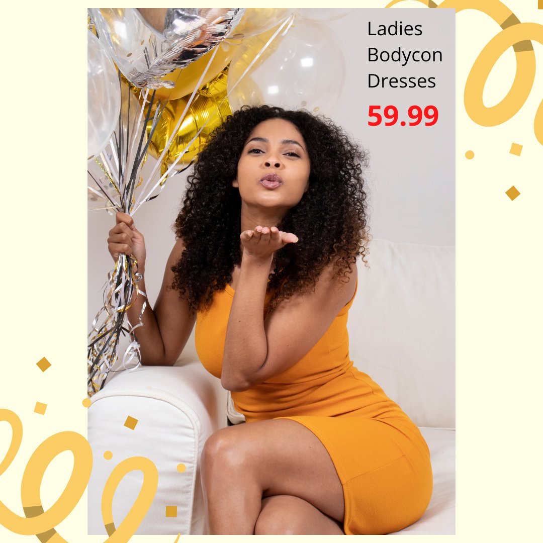It's our Birthday, but your party 🎂🎉🎁 Get these amazing birthday deals in store now... Ladies Assorted Bodycon Dresses only 59.99 Promo valid until 16 Sept or while stocks last.  #wearchoice #choiceclothing #ladiesdresses #bodycondress