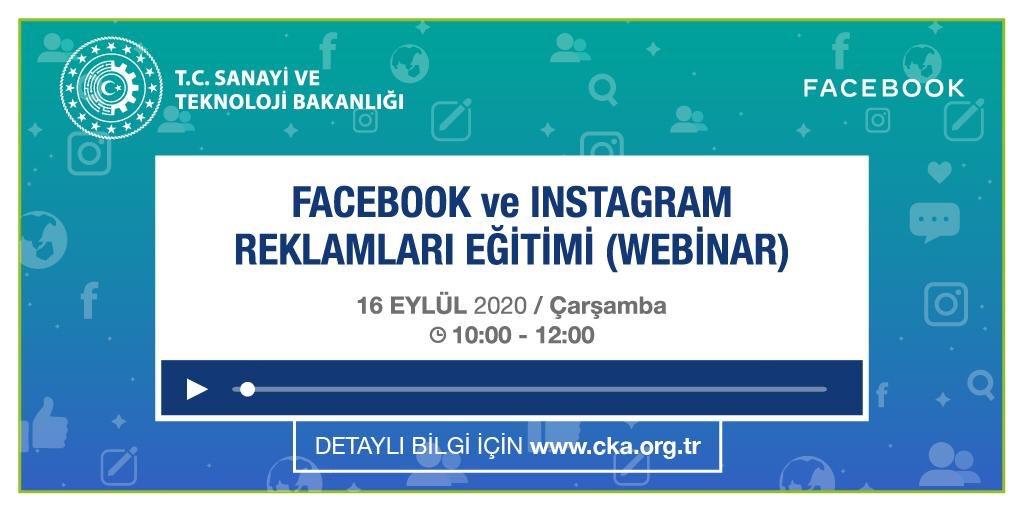 """📢@TCSanayi ve #Facebook işbirliğinde """"Facebook ve İnstagram Reklamları Eğitimi"""" düzenleniyor.  Katılım Ücretsizdir.   Programa Kayıt İçin👇👇👇 https://t.co/o5o5o5Z2JA https://t.co/bKfN1FT3Ax"""