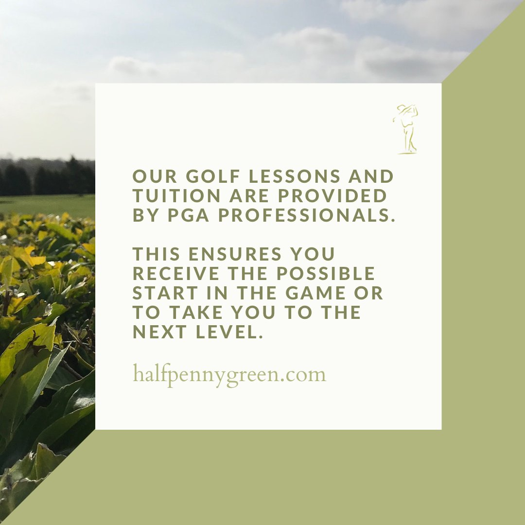 Our golf lessons and tuition are provided by PGA professionals. This ensures you receive the best possible start in the game or to take you to the next level. #halfpennygreen #golfing #golf #pgatour #pgachampionship #GolfLife https://t.co/TDbFgq0EWz https://t.co/b6PkJONSno