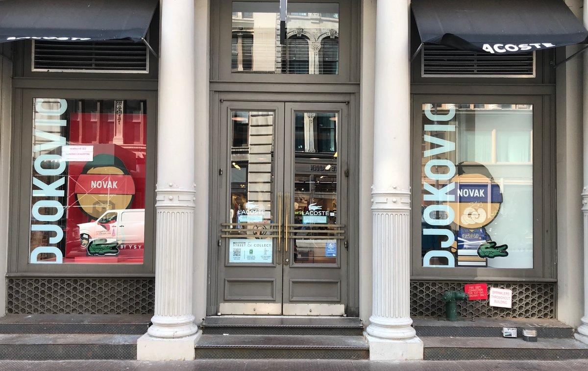 @LACOSTE store, New York City, Broadway Street, Soho. @DjokerNole x YSY https://t.co/JZvia9XWzc