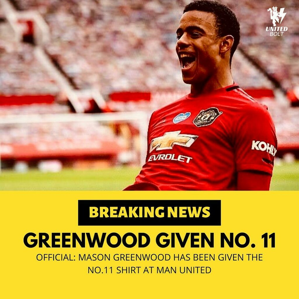 Official: Mason Greenwood has been given the no.11 shirt at #MUFC. Brandon Williams given the no.33 🔴😍  Thoughts? 💭 Comment your Opinion 👇  Follow @united.bolt for more 🔴⚡️ YouTube: SIDBLITZ 🎥  ______________________________________ #MUFC #Footba… https://t.co/GRJZhJZu7R https://t.co/X8SkKl9QkY