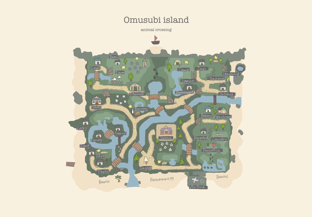 レイアウト あつ 森 地図 島