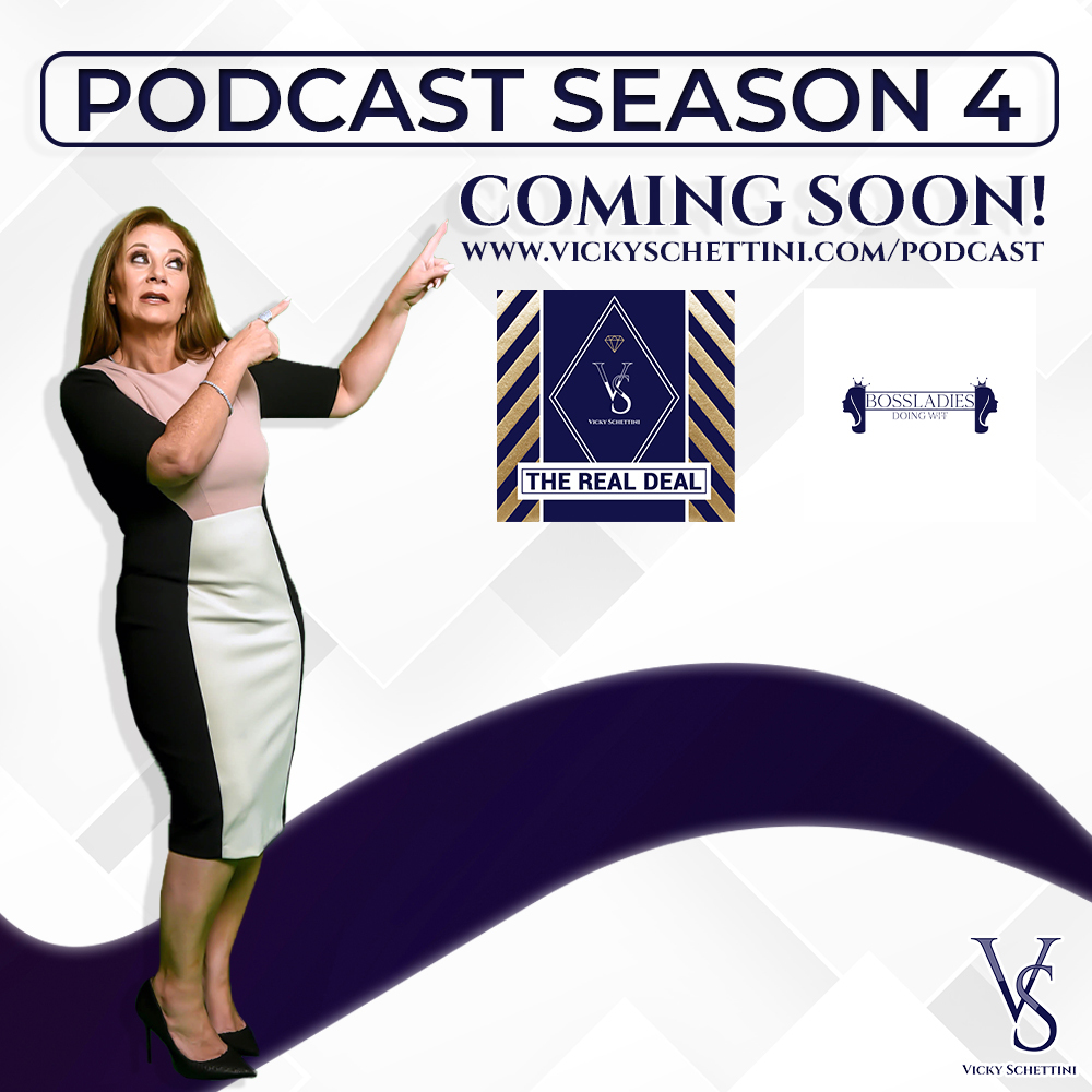 The Boss Ladies Podcast Season 4 is coming soon!! This time its gonna be bigger than ever💥💃 Stay tuned for more update! #realestate #womanempowerment #vickyschettini #speakerslife #speaker #podcast #ladies #power https://t.co/NAS8W4qlgp