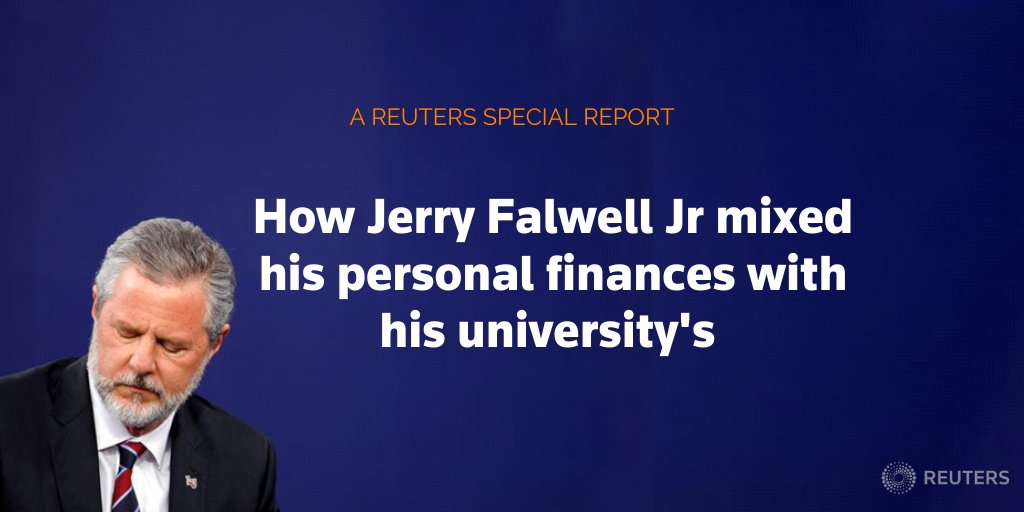 This week, Liberty University announced an independent investigation into school operations during Jerry Falwell Jr's tenure.   Falwell for years mixed his personal finances with those of the university where he served as a lawyer and later as president https://t.co/nVLfosXVt4 https://t.co/1D5N0dPJKT