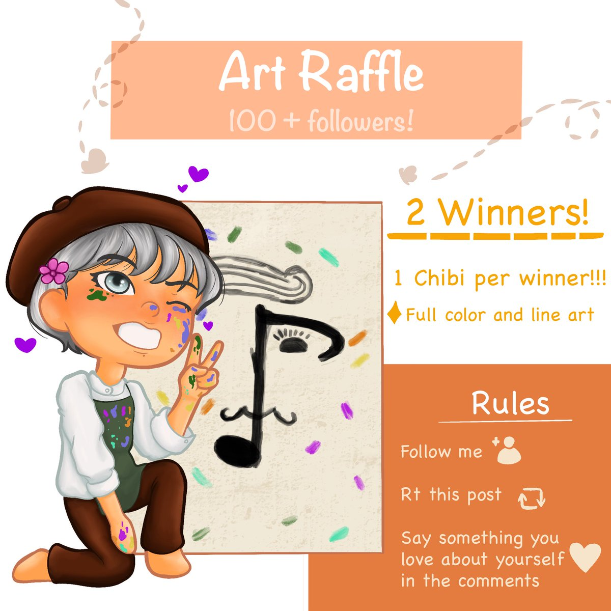 🌟 ART RAFFLE 🌟  A little thank you to y'all for following me and liking my art! There'll be one winner here and one on Instagram so it's possible to participate twice!  It'll end on September 21, 6pm pst and the winners will be announced the next day!  #artraffle #raffle https://t.co/FPm5BKqVsl