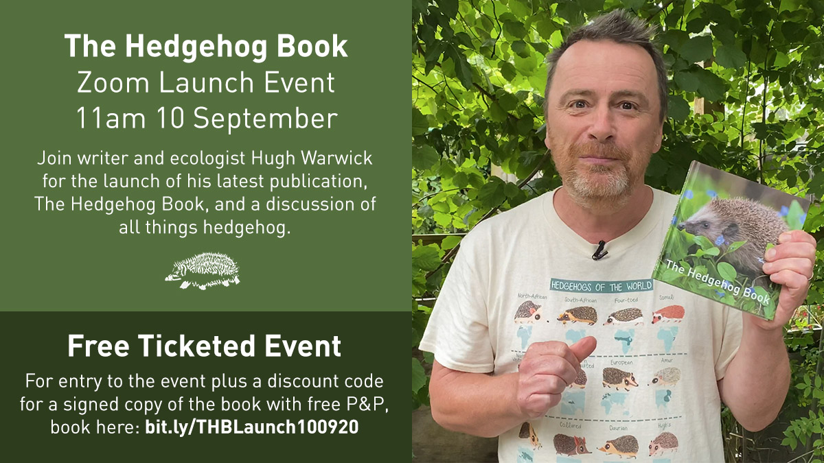 It is our pleasure to invite you to the launch of The Hedgehog Book next week. Join author @hedgehoghugh in conversation with Fay @hedgehogsociety CEO all things hedgehog 🦔  Attendees will also receive a coupon for a signed copy + free p&p!  Book here: https://t.co/k1Zrym5kqe https://t.co/v62D96wu9H