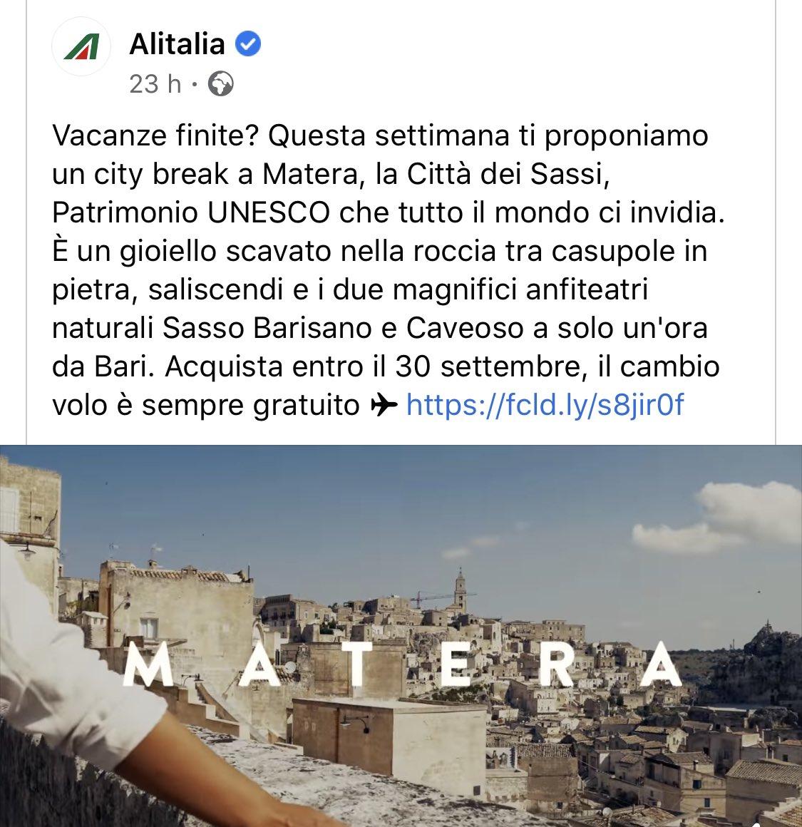 Cara @Alitalia non potevi consigliare di meglio......