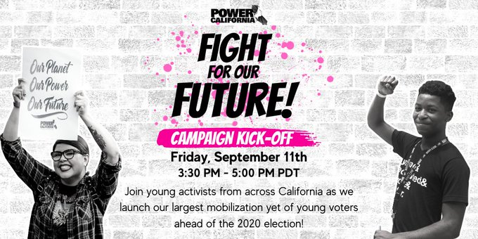 Black youth & other young people of color are the central force for every major #justice movement in the US. This Friday join hundreds of youth & volunteers for @PowerCANow's Fight for Our Future Campaign Kick-off! RSVP: https://t.co/ymVkiKU8Au #YouthPower https://t.co/YXkHOWGLEc