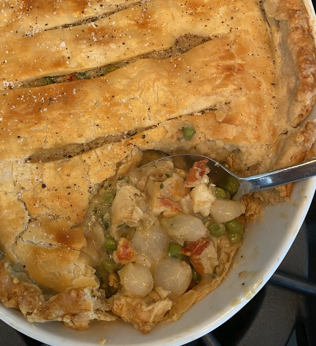 Lobster 🦞 Pot Pie is the perfect holiday dinner - it's an entire meal in one baking dish and it's scrumptious! Have a happy, healthy, and safe Labor Day weekend everyone!  #treatyourself