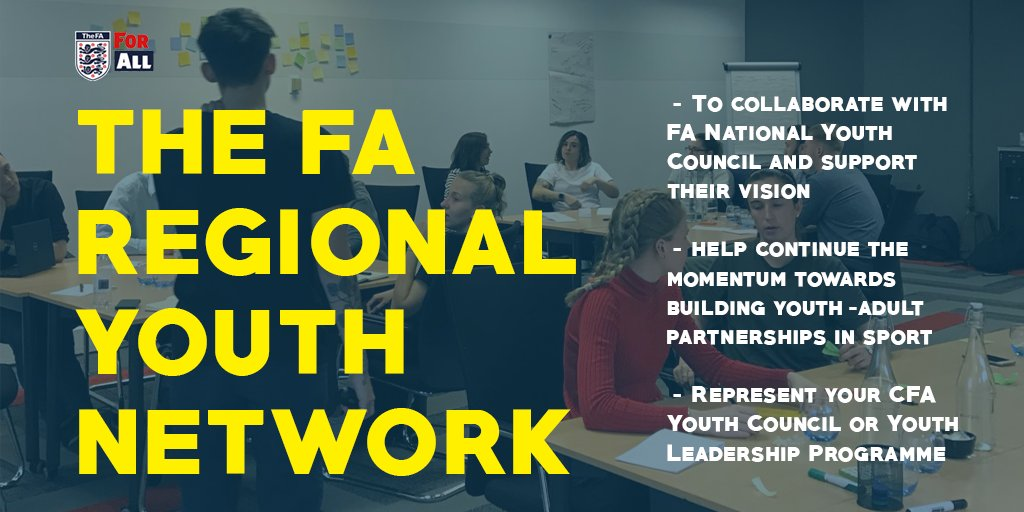 NEW OPPORTUNITY!!   We are now recruiting for the first ever FA Regional Youth Network for the 20-21 season. To find out more and how to apply, click on the link 👇👇👇  https://t.co/VOXf5M2PMu https://t.co/uT0NKOJTJ6