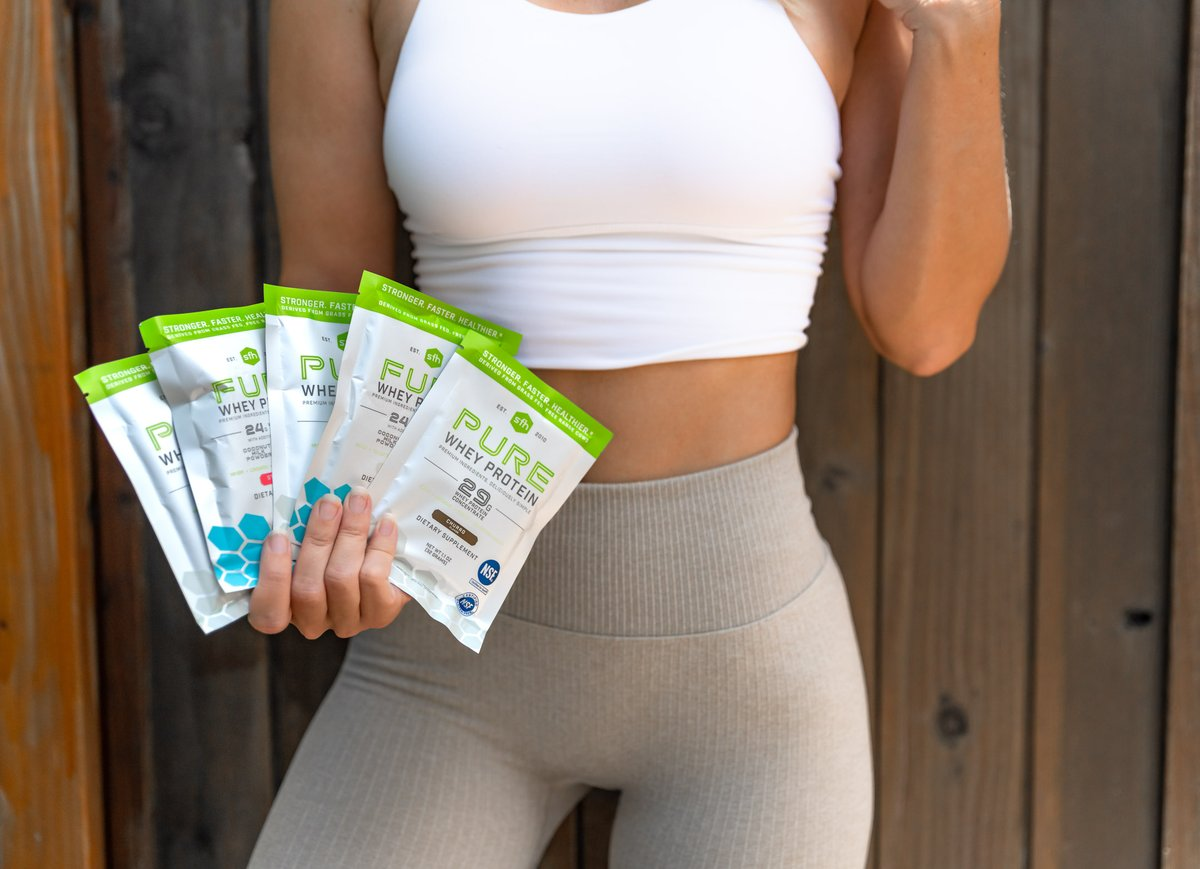 It's FRIDAY! Our single serves are perfect for on-the-go, making it the ideal way to fuel up for any socially distanced long weekend adventure 👟 🚗 🗺️ #onthego #wheyprotein #longweekend #cleansupplements   Shop Now:
